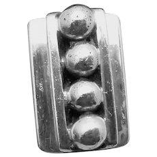 Vintage Taxco Mexico Mexican Sterling Silver Citlal Los Castillo Cufflinks