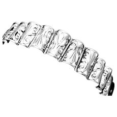 Vintage Barena Taxco Mexico Mexican Sterling Silver Shadowbox Bracelet