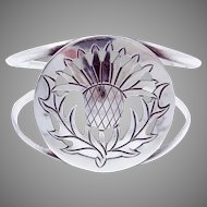 Abbott Gotshall New Hampshire Sterling Silver Large Thistle Cuff Bracelet