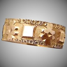 Antique 14K Gold Victorian Baby Doll Child Decorated Ring Orig Box Texas