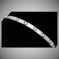 Antique 1910 Bob O Link Sterling Silver Forget Me Not Name Bracelet