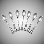 Vintage Gorham Sterling Silver Buttercup Demitasse Coffee Spoons Set of 7