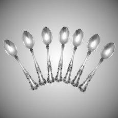 Vintage Gorham Sterling Silver Buttercup Demitasse Coffee Spoons Set of 7