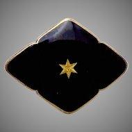 Vintage O F Hjortdahl Norway Norwegian Sterling Silver Vermeil Gold Star Pin