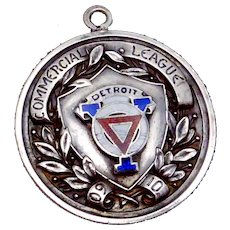 Robbins Sterling Silver YMCA Detroit Basketball Loomis Champions 1909-1910