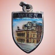Wien Vienna Austria Sterling & Enamel Vintage Charm