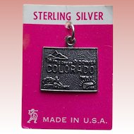 Sterling Colorado Vintage Charm - State Souvenir on Card