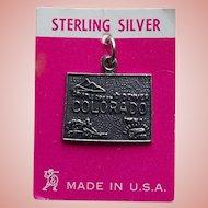 Sterling Colorado Vintage Charm - State Souvenir on Card