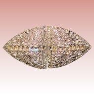 Fabulous CORO DUETTE Vintage Rhinestone Dress Clips Brooch