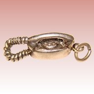 Awesome Sterling Princess Phone Vintage Estate Charm