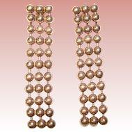Fabulous STERLING Italian Ball Chain Dangle Earrings