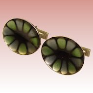 Awesome Mid Century ENAMELED Cufflinks