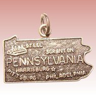 Awesome Sterling Pennsylvania Vintage Souvenir Charm