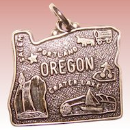 Awesome Sterling OREGON Vintage Souvenir Charm