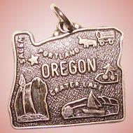 Awesome Sterling OREGON Vintage Souvenir Charm