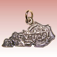 Sterling KENTUCKY Vintage Estate Charm