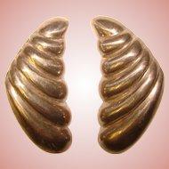 Awesome STERLING Modernist Design Vintage Earrings
