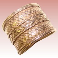 Gorgeous STERLING Wide Patterned Band RING