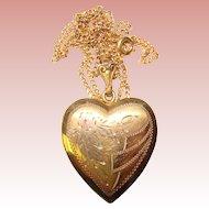 Gorgeous HEART Gold Filled Sterling Vintage Locket
