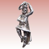 Sterling Scottish Man in Kilt Vintage Charm - Highland Fling Dance