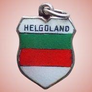 800 Silver & Enamel Helgoland Vintage Estate Charm - Souvenir of Germany