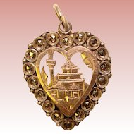 Gorgeous STERLING & Marcasite Vintage Heart Shaped Pendant