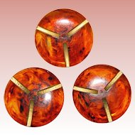 Fabulous Trio of Large Bakelite Buttons