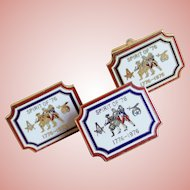 Bicentennial Spirit of '76 Enamel Vintage Cufflinks Set - Masonic & Shriner Symbols