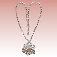Gorgeous AURORA RHINESTONE Vintage Necklace
