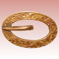 Tiny Antique SASH PIN Design Mini Brooch - For Doll or Lapel