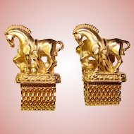 Awesome Vintage HORSE Design Wrap CUFFLINKS
