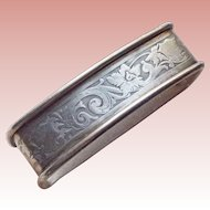 Antique Sterling Napkin Ring - Signed Webster