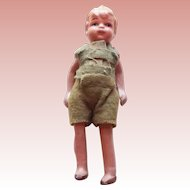 Jointed Small Blond Boy Vintage Doll - Japan
