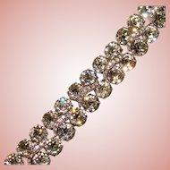 Fabulous EISENBERG Signed Vintage Crystal Rhinestone Bracelet