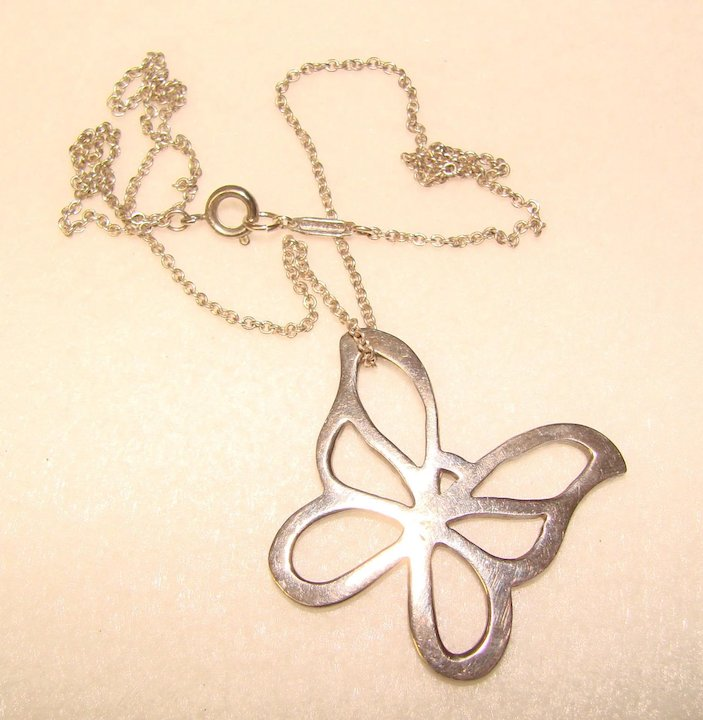 8677a2a5529 Tiffany And Co Butterfly Pendant - Best Image Of Butterfly Imagevet.Co