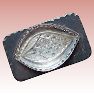 Gorgeous Sterling & Cut Glass Vintage Belt Buckle Custom Made
