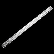 Art Deco Sterling Bar Pin Brooch - Signed Allco