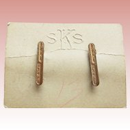 Tiny Antique Bar Pin Brooch Set For Doll - On Original Embossed Card