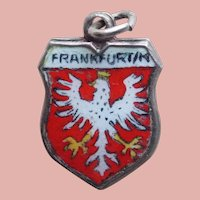 Frankfurt 800 Silver & Enamel Vintage Estate Charm - Souvenir of Germany