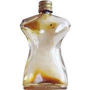 Miniature Elsa SCHIAPARELLI Signed Vintage French Perfume Bottle - Nude Female Torso or Dress Form - Made in France