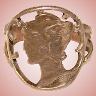 Gorgeous 1937 Mercury Head Dime Coin Ring