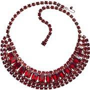 Fabulous RED RHINESTONE Vintage Necklace