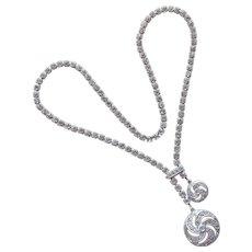 Fabulous WALTER LAMPL Sterling & Rhinestone Vintage Necklace