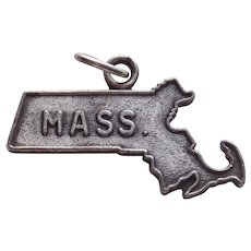 Sterling MASSACHUSETTS Vintage Charm - State Souvenir