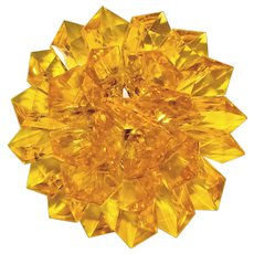 Awesome YELLOW Lucite Plastic Vintage Flower Brooch