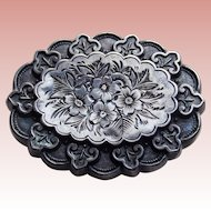 Fabulous VICTORIAN Sterling Aesthetic Antique Brooch