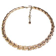 Gorgeous TRIFARI Leaf Link Design Vintage Necklace