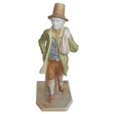 Royal Worcester Antique Figure Figurine - Signed Hadley - Shot Enamels