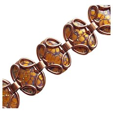 Fabulous MATISSE Signed Enamel Copper Bracelet - Guinevere Mid Century