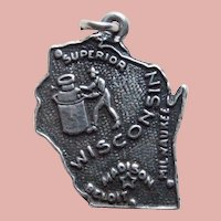 Sterling Wisconsin Vintage Charm - State Souvenir